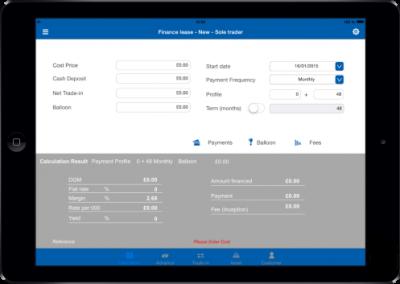 App commerciale & simulation de crédits