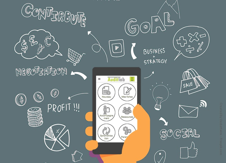 The professional mobile applications, an important data source for a fast decision-making